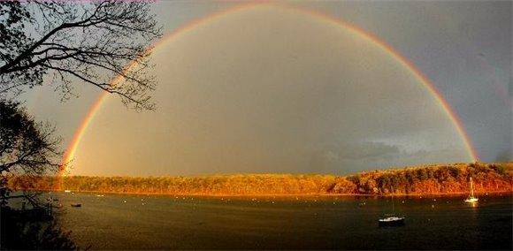 Rainbow over East Greenwich Cove