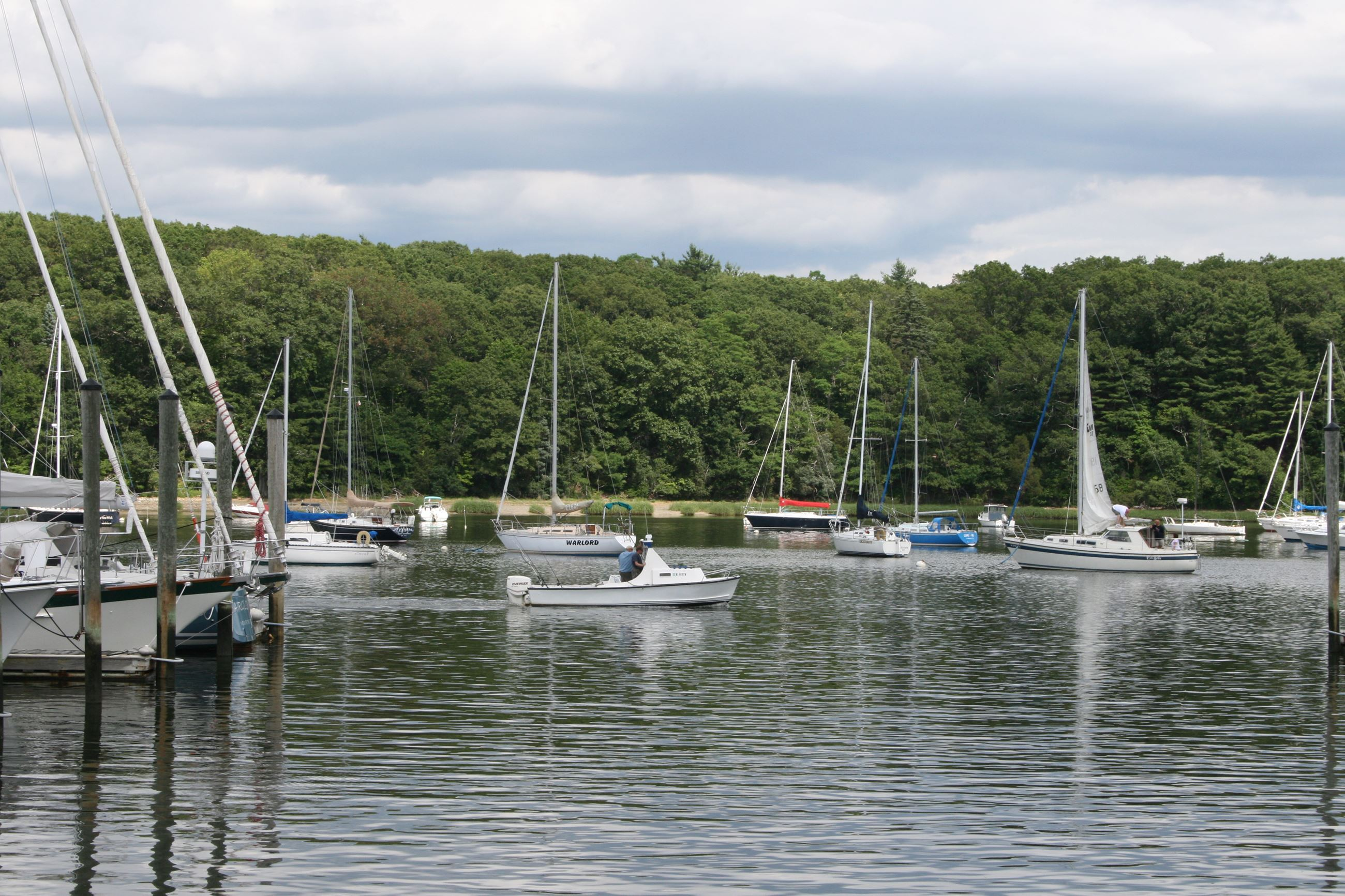 image of Greenwich Bay with boats on the water