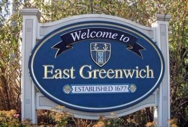 image of Welcome to East Greenwich sign