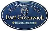 Welcome to East Greenwich Town Hall Sign
