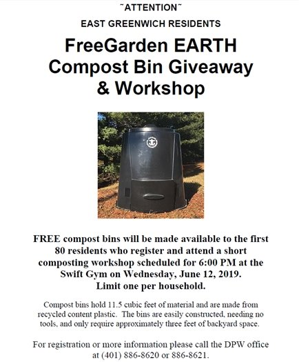 Free Compost Bin Giveaway & Workshop June 12th 2019 6:00pm Swift Gym