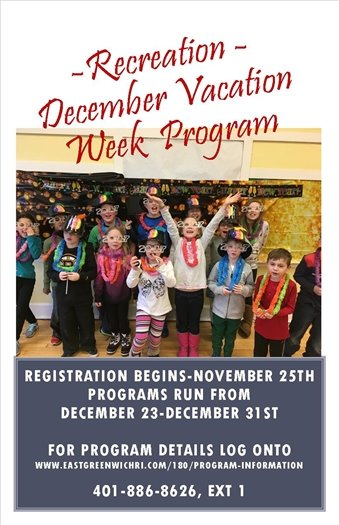 Recreation December Vacation Flyer