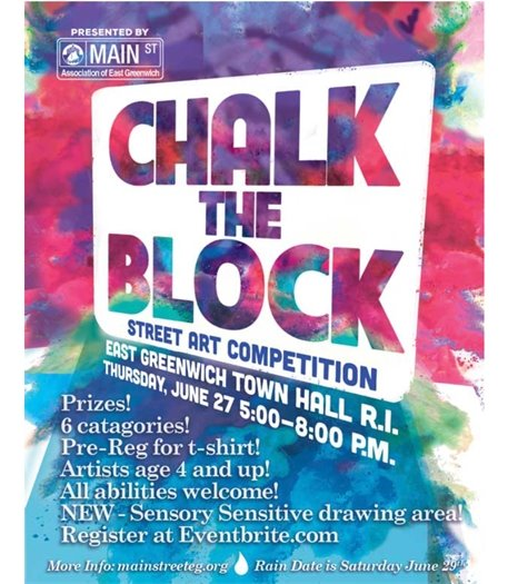 Chalk the Block June 27 2019 Flyer