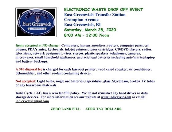 Electronic Waste Drop Off