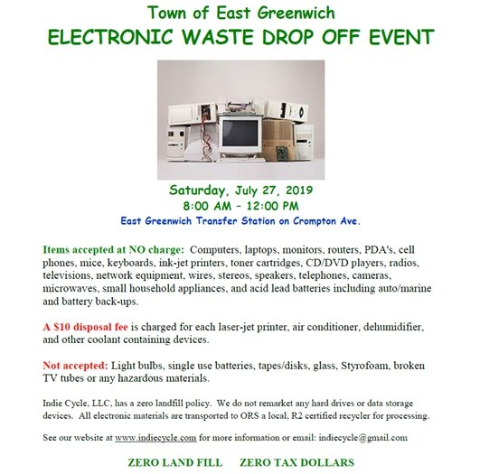Electronic Waste Drop Off Event Flyer