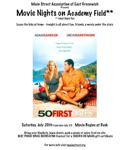 Main Street Association Movie Night Flyer